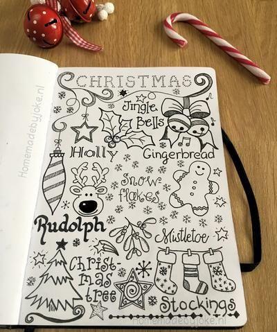 Ik heb een handlettering / jounaling kerst pagina gemaakt. Hoe ik deze kerst pag...