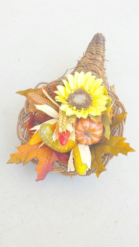 Fall Cornucopia Arrangement Thanksgiving Cornucopia by JennisDoor