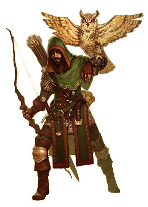 D D Character Design : Human ranger pathfinder rpg pfrpg dnd d fantasy