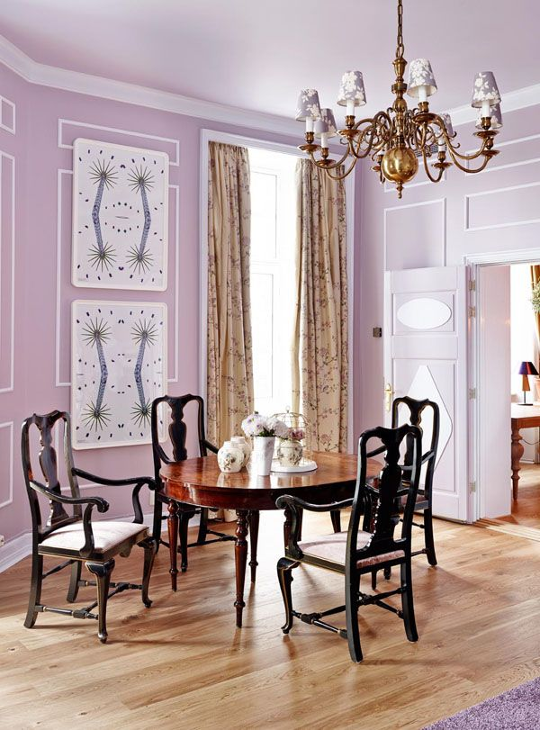 Decorando en morado, lila y berenjena · Decorating in purple, lilac - salle a manger couleur