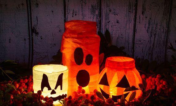 Decorazioni di halloween con carta crespa fai da te belle da far paura artiste per casa - Carta crespa decorazioni ...