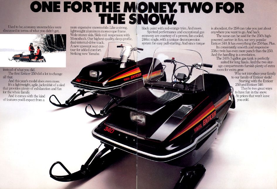 1980 yamaha enticer 250 and 340 snowmobiles snow pinterest snow machine mini bike and vehicle. Black Bedroom Furniture Sets. Home Design Ideas