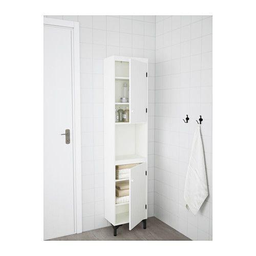 SILVERÅN Hochschrank mit 2 Türen, weiß Hochschrank, Ikea und Türen - badezimmer spiegelschrank ikea