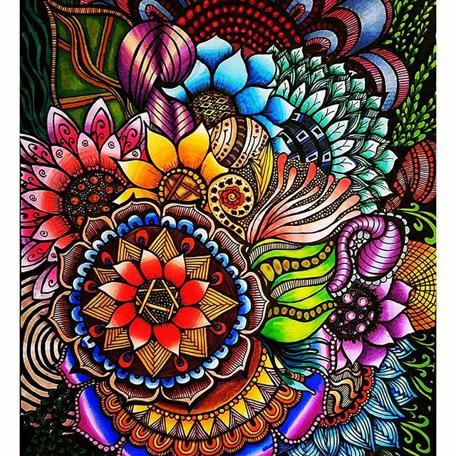 Stunning Colouring Page Coloured By Acfotos98 With Their Chameleon Pens Chameleonpens Chameleon Iskusstvo