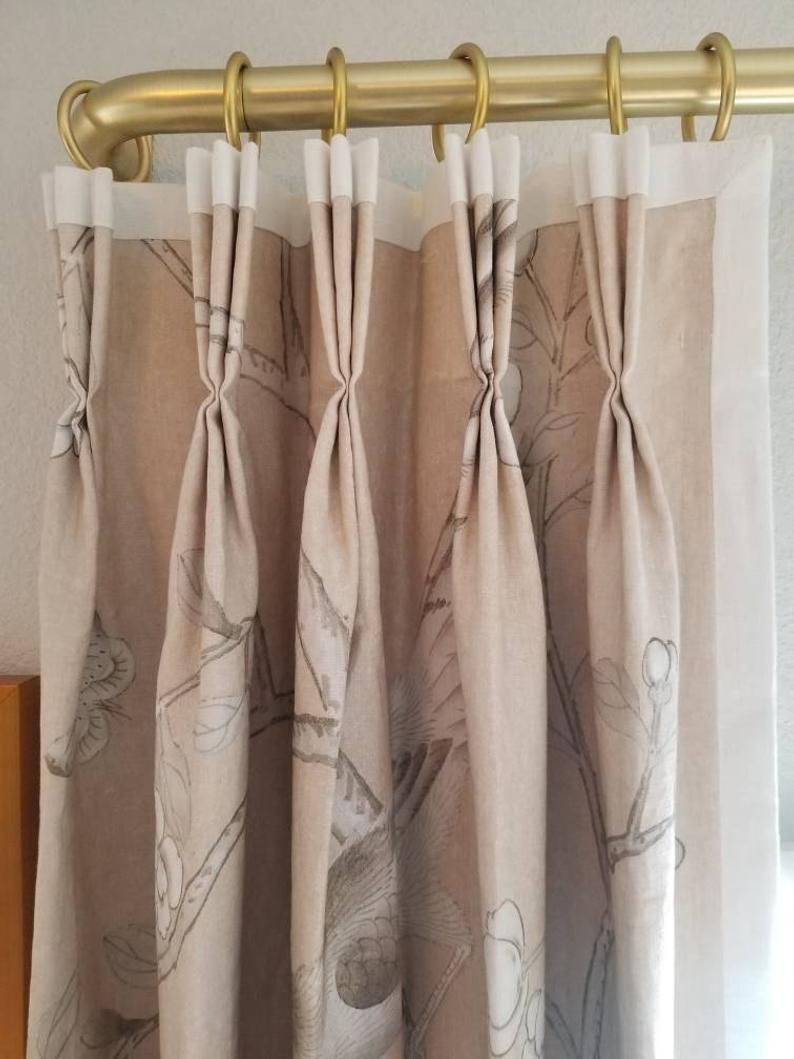 French Drape Rod Metal Drapery Rod With Curved Return Or 90 Etsy