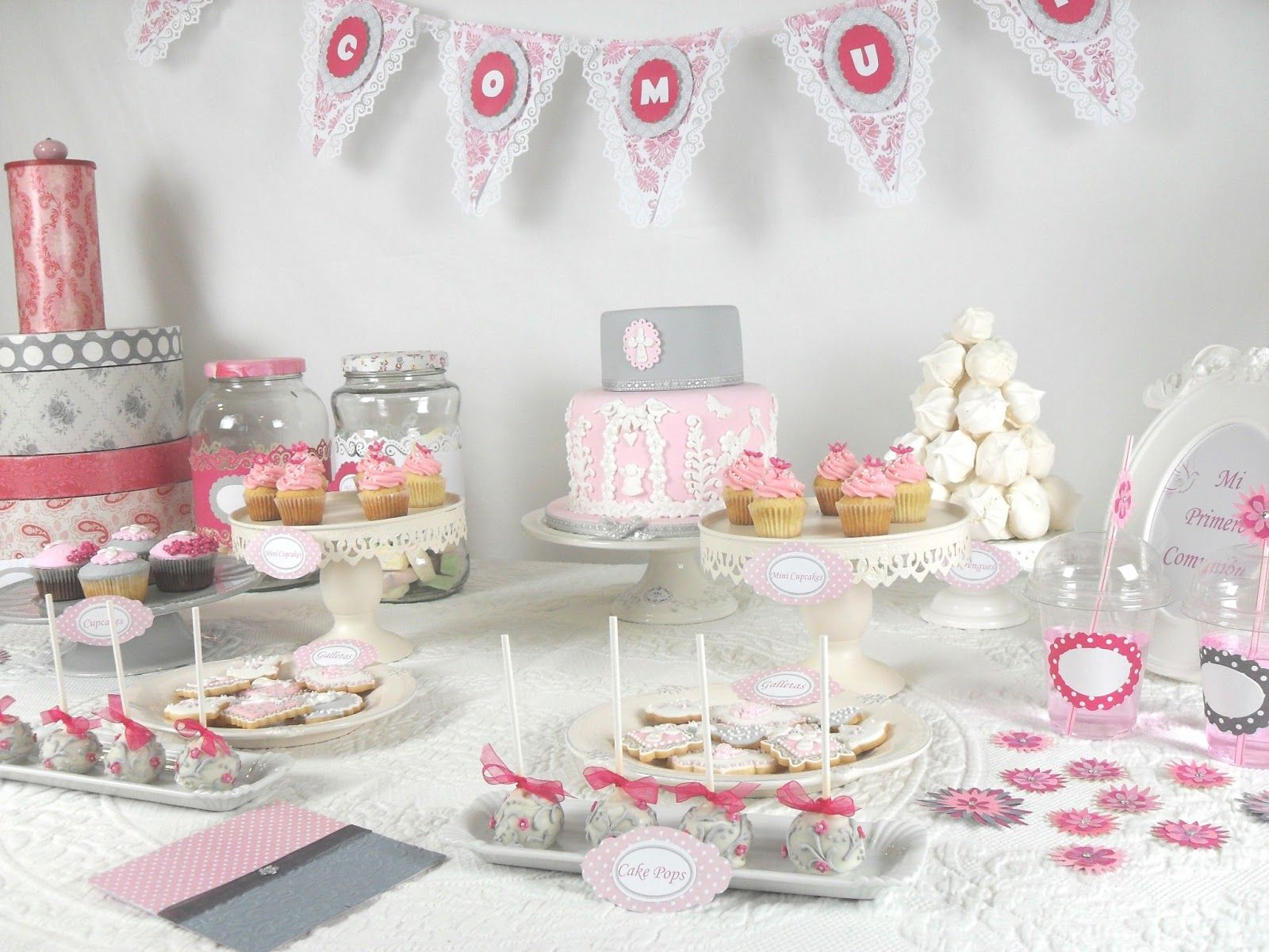 Decoraci n candy bar comuni n decoraci n comuniones pinterest comuni n bar y primera comuni n - Ideas decoracion bar ...