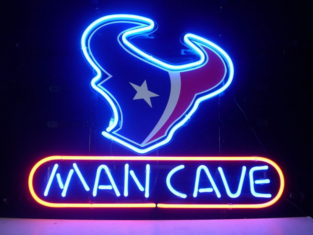 Neon Man Cave Signs Canada : Nfl houston texans logo man cave