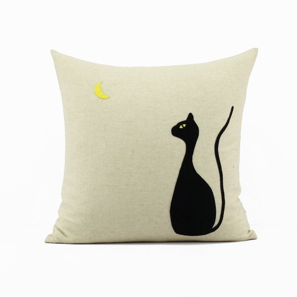 Decorative Pillowcat Pillowcaseblack Cat Pillowcat Lover Gift