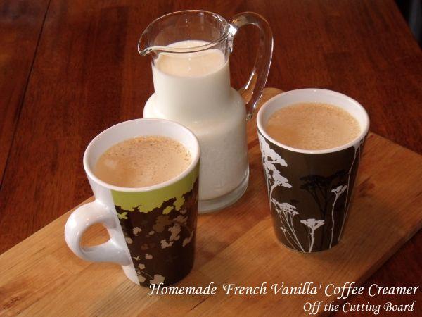"Homemade ""French Vanilla"" Coffee Creamer #frenchvanillacreamerrecipe"