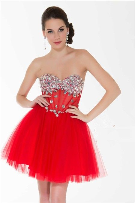 1000  images about Short red prom dress on Pinterest - Knee length ...