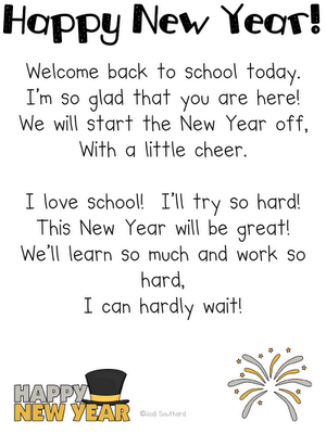 Happy New Year Poem and other cute ideas. May use this when the kids ...