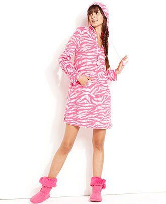 Jenni Pajamas, Supersoft Hooded Tunic - Womens PAJAMAS & ROBES ...