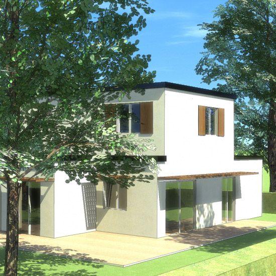 Maison bois contemporaine gamme sur plans - Maisons Ginkgo