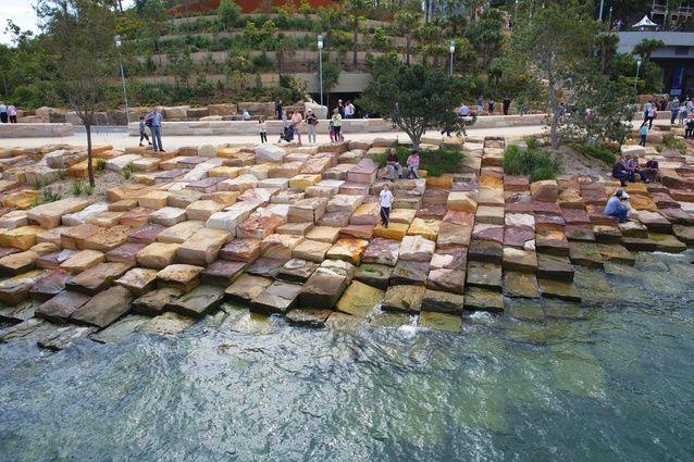 A Naturalized Landscape Barangaroo Reserve Landscape Architecture Design Urban Landscape Landscape Design