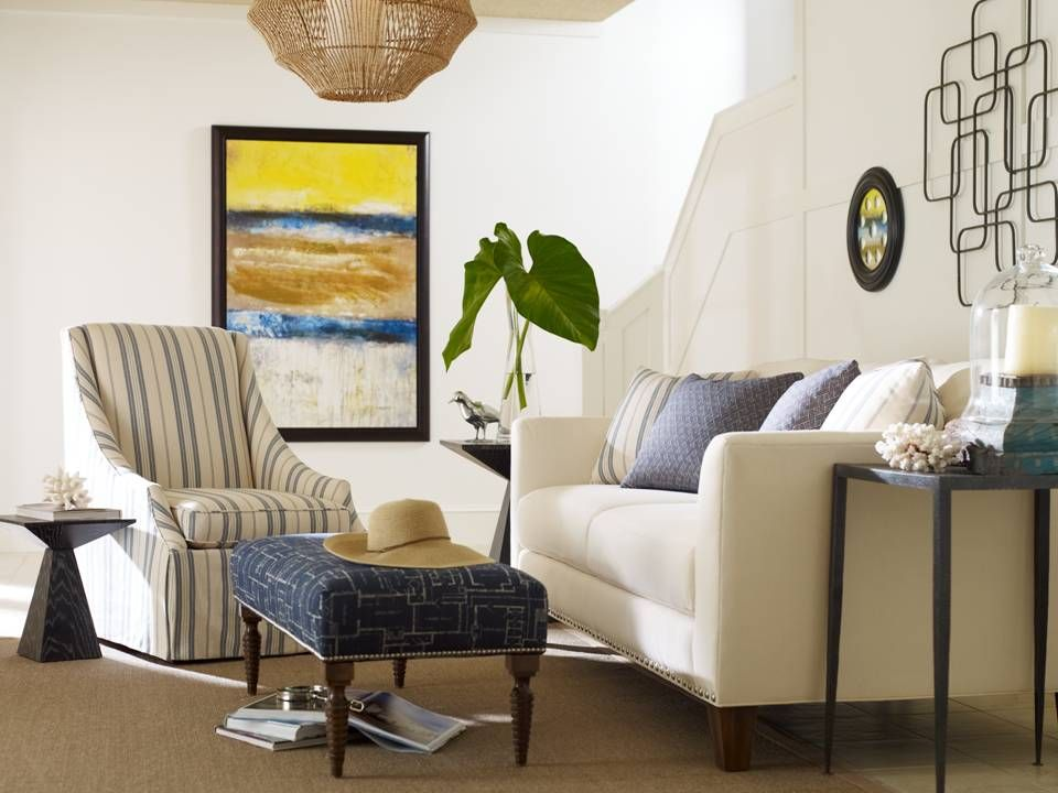 The Hadley Sofa, Bardot Chair And Talbot Ottoman All By Clayton Marcus.