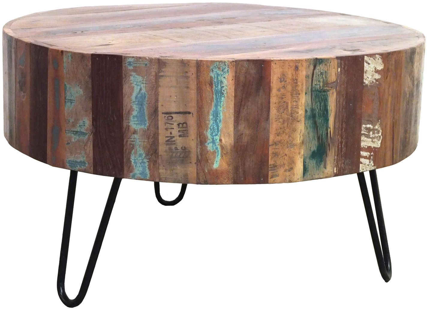 Salontafel hout rond 70x70 bont by boo home pinterest