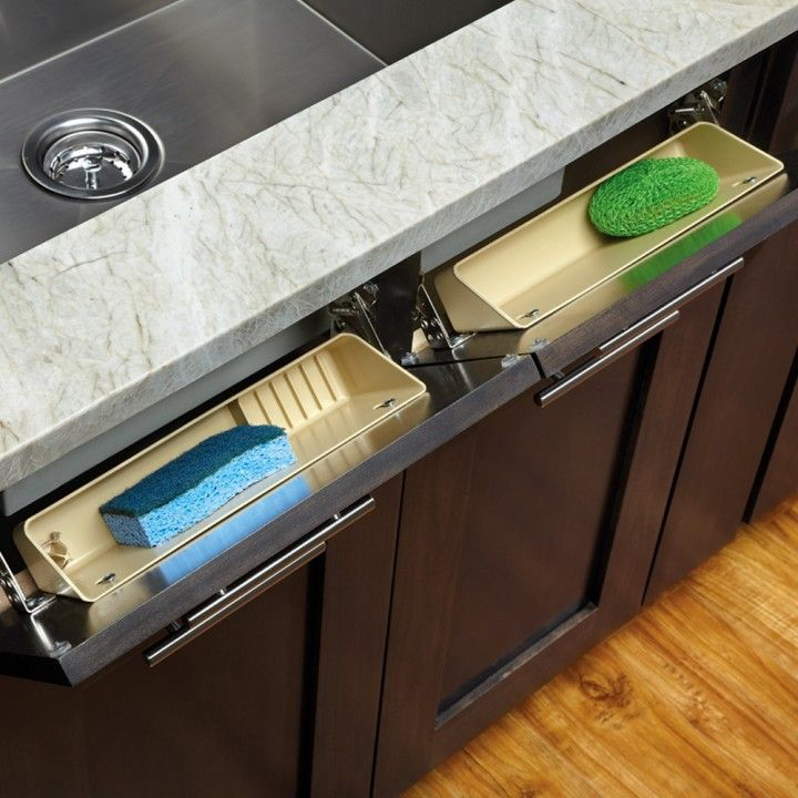 Organize Your Kitchen In 11 Minutes Or Less Sink Front Tipout Trays Convert False Front Drawers To Usable Storage Sink Kitchen Sink Faucets Hardware Resources