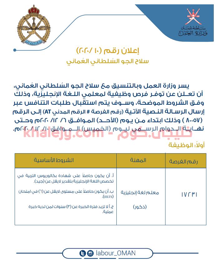 وظائف سلاح الجو السلطاني العماني 21st Ios Messenger