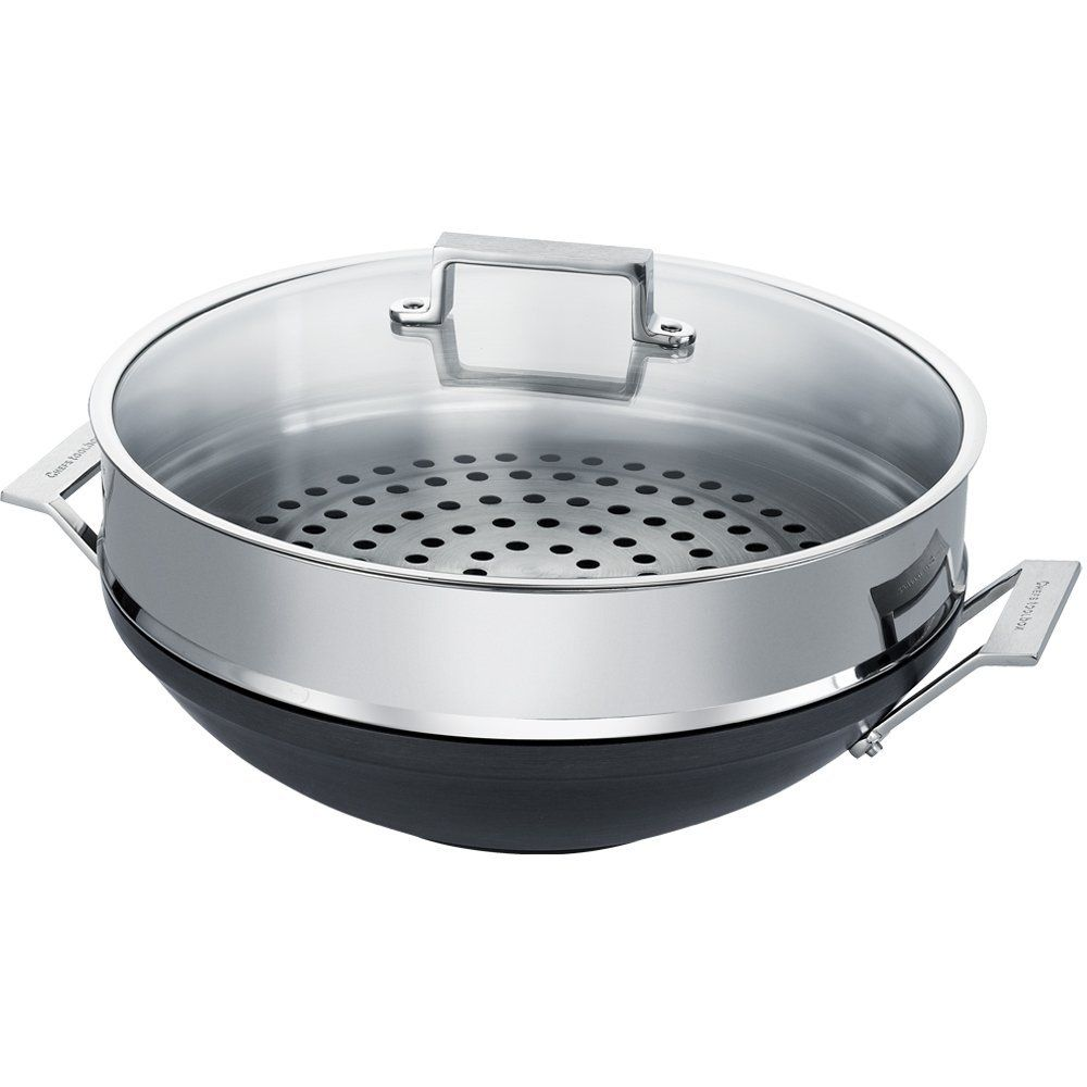 Non Stick Kitchen Appliances Review Of Chefs Toolbox Non Stick Wok 14 Inch Steamer Review The