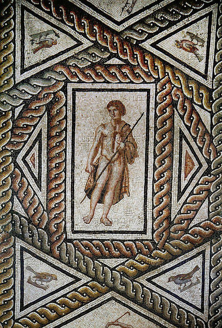 Dionysos Mosaic from the Thermae of Virunum, Austria - around 45-50 CE, at the Klagenfurt, Austria