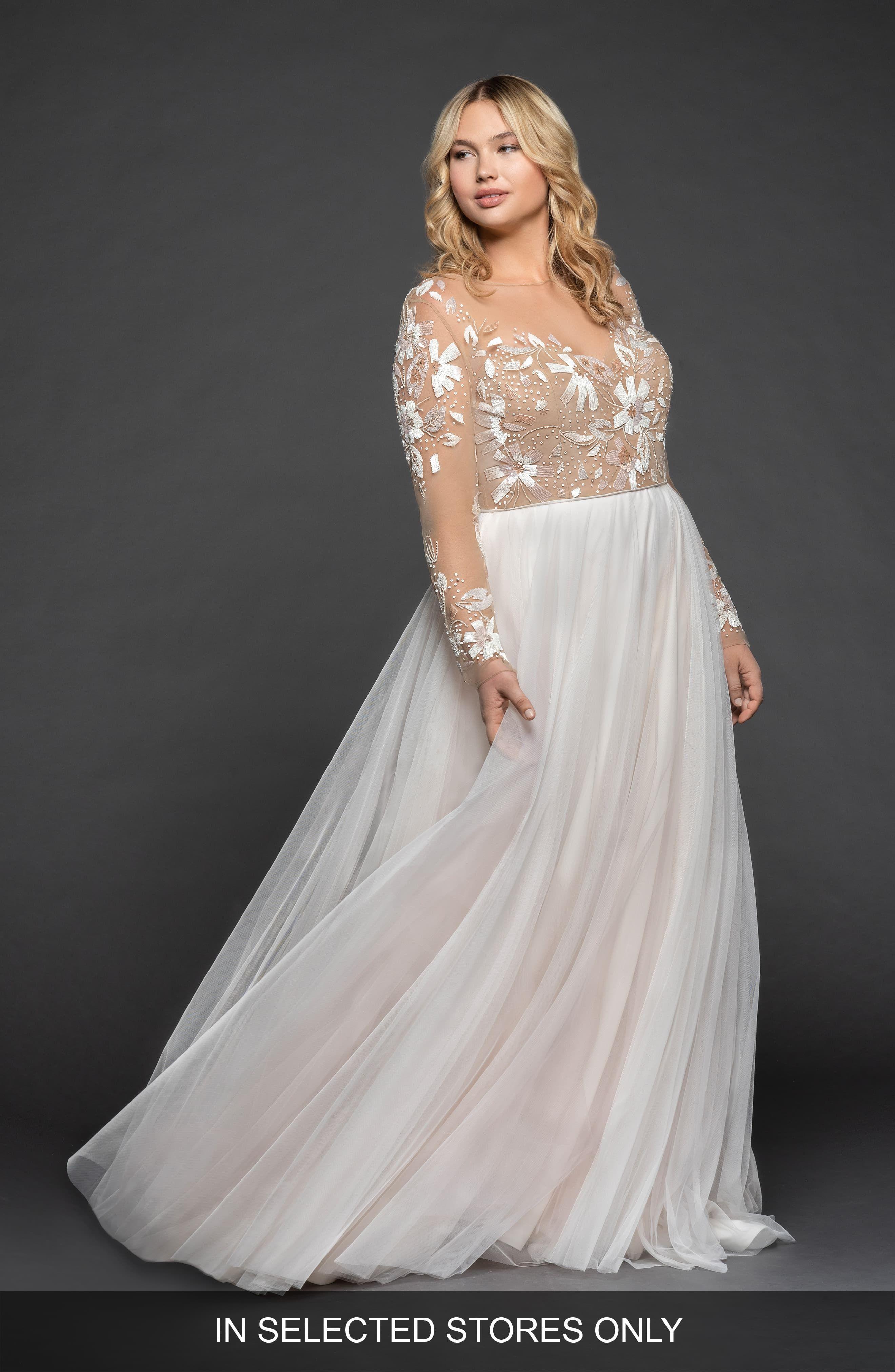 Plus Size Women S Hayley Paige Remmington Embellished English Tulle Gown Size In Wedding Dress Long Sleeve Wedding Dresses Plus Size Beautiful Wedding Dresses [ 4048 x 2640 Pixel ]