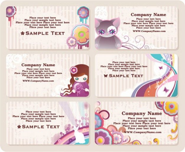 Kawaii Visitekaartjes Idee Pinterest Card Templates - Cute business cards templates free