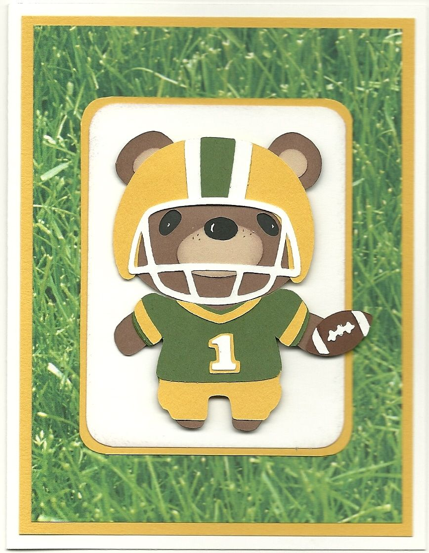 Card For Packer Fan Scrapbook Com CARDS TAGS Cards