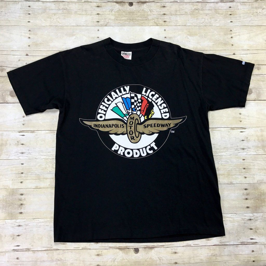Vintage 90s indianapolis motor speedway sega t shirt made for Indianapolis motor speedway clothing