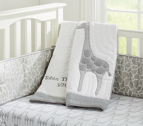 Gray Giraffe Tobin Nursery Bedding Pottery Barn Kids