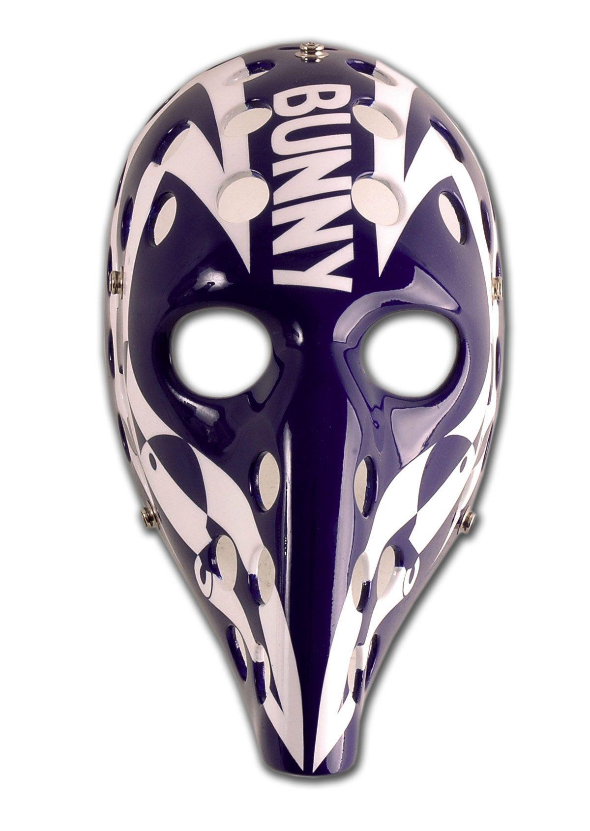"Michel ""Bunny"" Larocque Goalie mask, Maple leafs hockey"