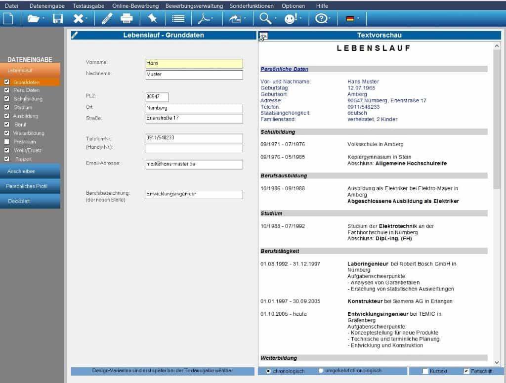 die bewerbungssoftware erstellt individuelle bewerbungsunterlagen inkl bewerbungsschreiben cv lebenslauf profil deckblatt - Bewerbung Software