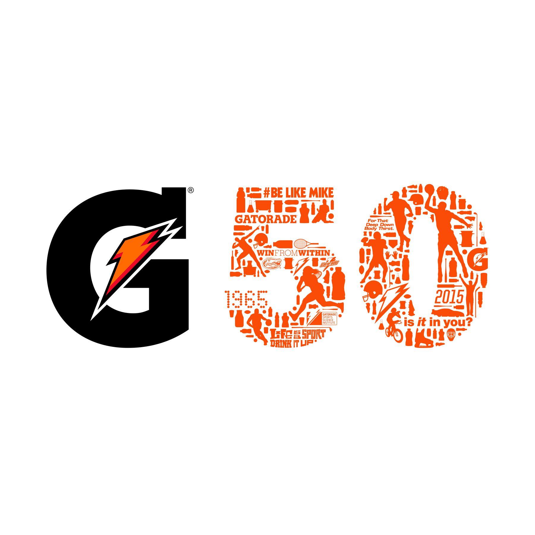 Gatorade 50th Anniversary Logo Designed