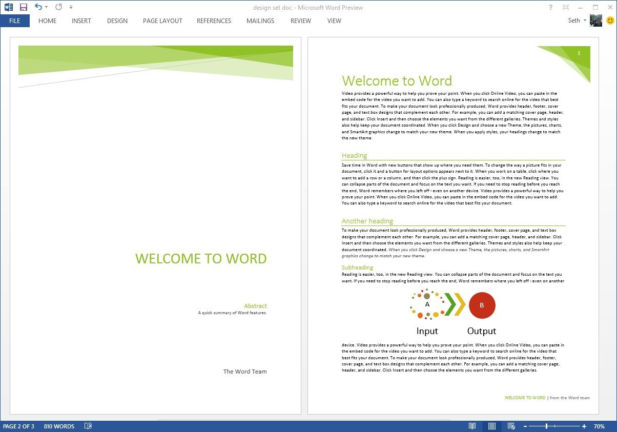 The Awesome Starting Off Right Templates And Built In Content In The Pertaining To Fact Sheet Template Word Template Word Template Design Cover Page Template Free word document templates download