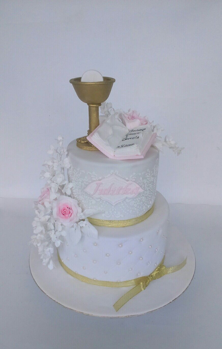 First Communion Cake For Girl With Images First Communion
