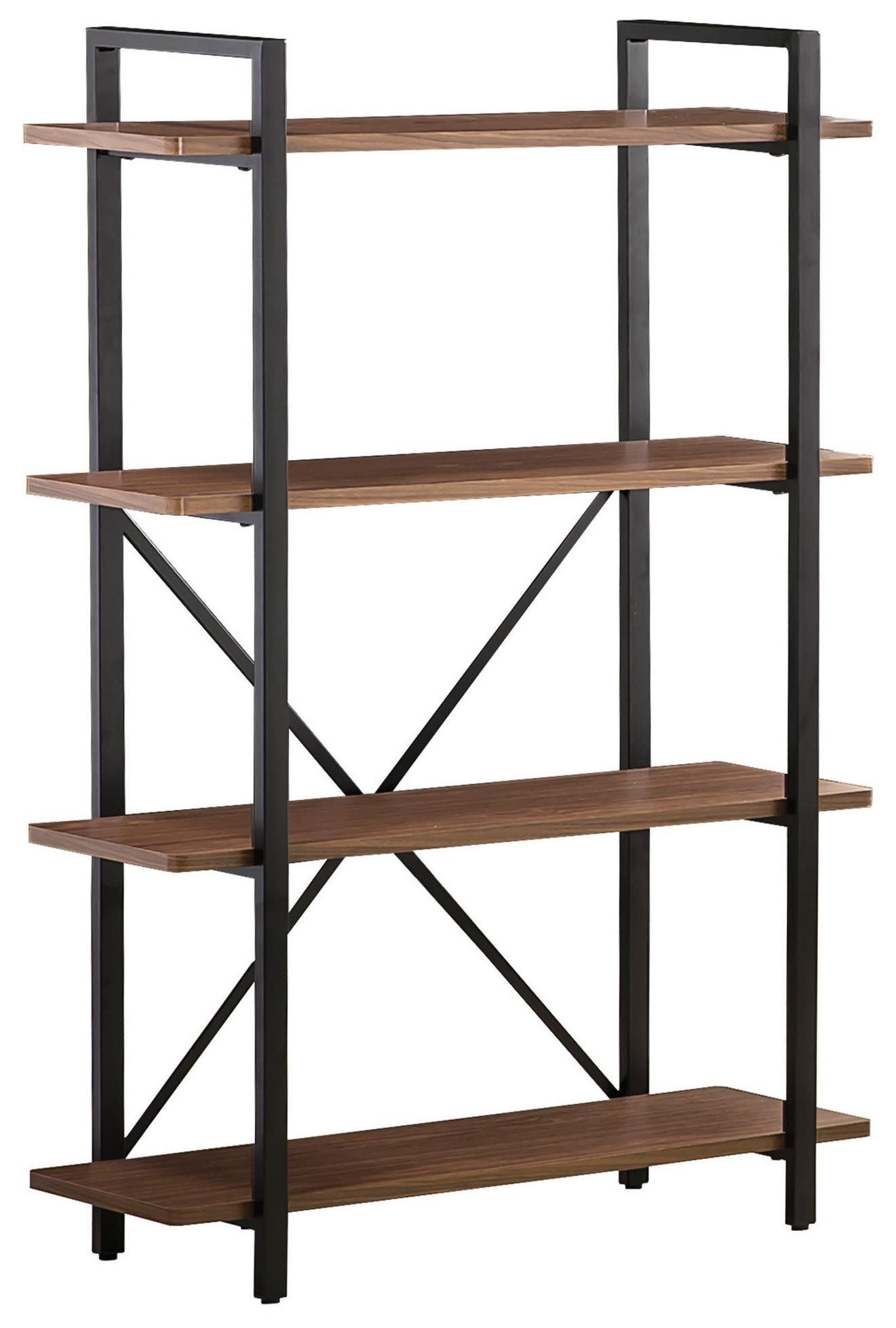shelf bookcase oak bookcases black corner with shelves supports coaster light bookshelf inverted open and modern