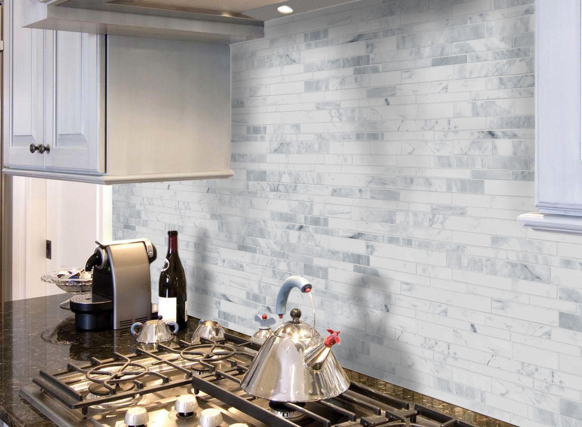 - Wayfair Kitchen Backsplash Tiles Collection-Faber Carrara Extra