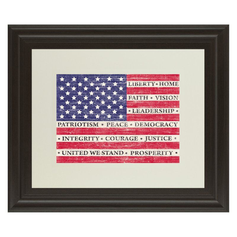 Classy Art Flag Of Inspiration Framed Wall Art - 40W x 34H in ...