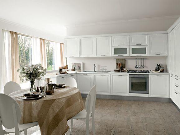 Cucina angolare classica/moderna in rovere bianco. | ArredissimA ...