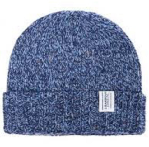 blue men's beenie hat