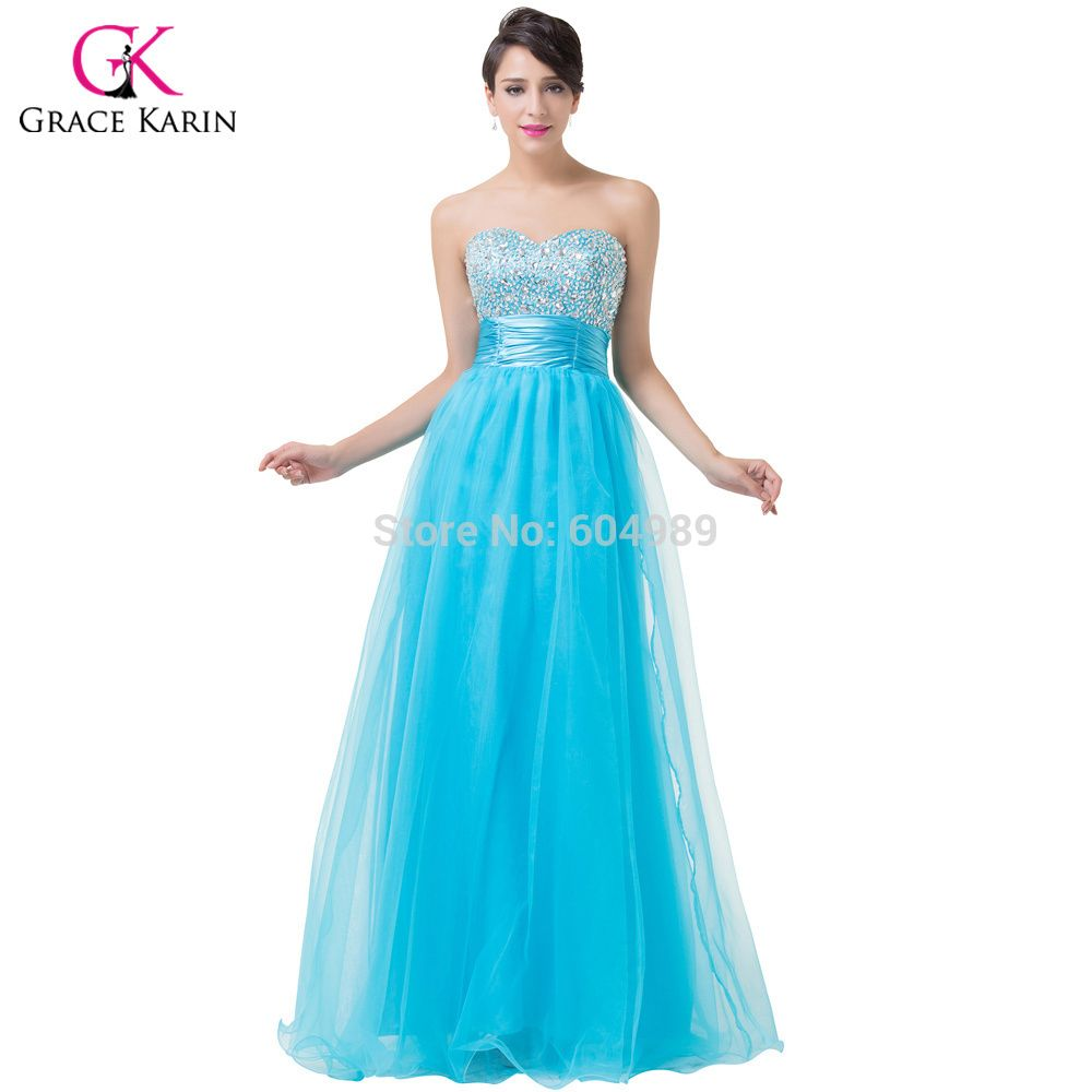 Click to Buy << Evening Dresses 2017 Grace Karin Pink Turquoise ...