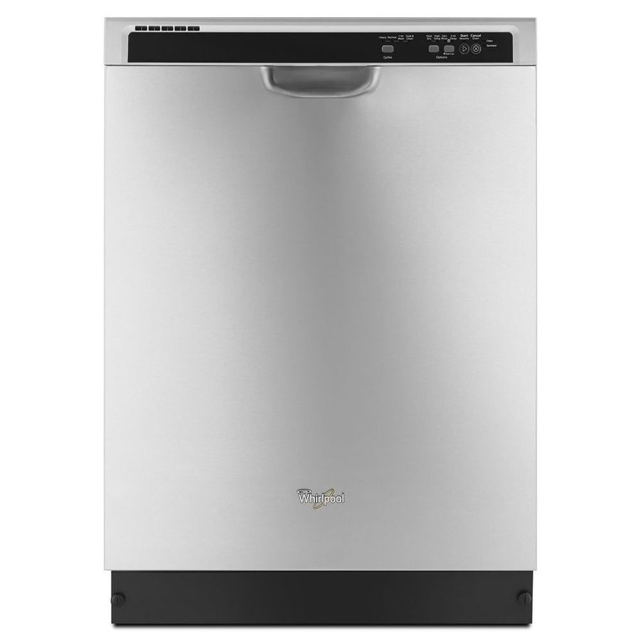 Whirlpool 55 Decibel Built In Dishwasher Monochromatic Stainless Steel Common 24 In Actual 23 875 In Energy St Built In Dishwasher Whirlpool Dishwasher Stainless Steel Dishwasher