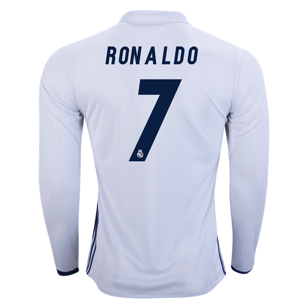 Real Madrid 16 17 Cristiano Ronaldo Long Sleeve Home Soccer Jersey Check Out 2016 17 La Liga Jerseys Apparel And More Ronaldo Long Sleeve Jersey La Liga