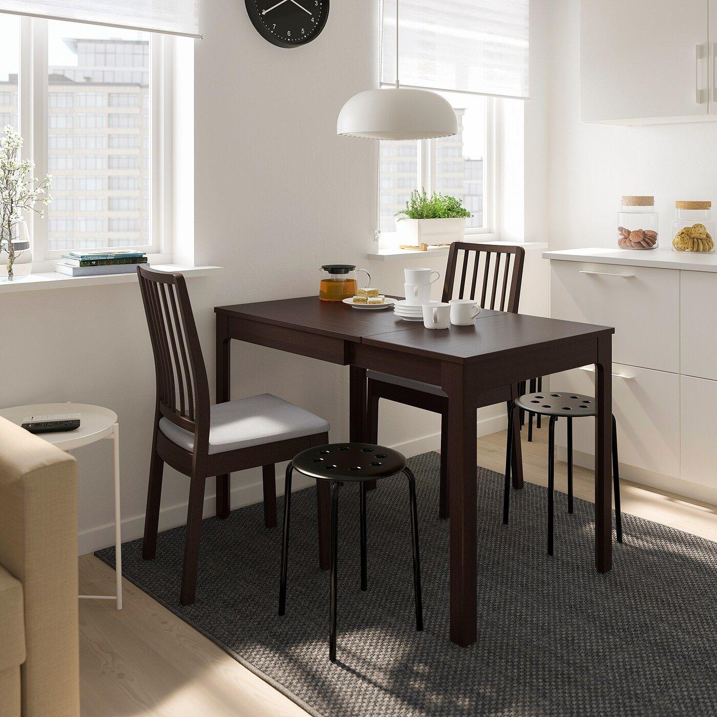 Ekedalen Tisch Und 2 Stuhle Dunkelbraun Orrsta Hellgrau