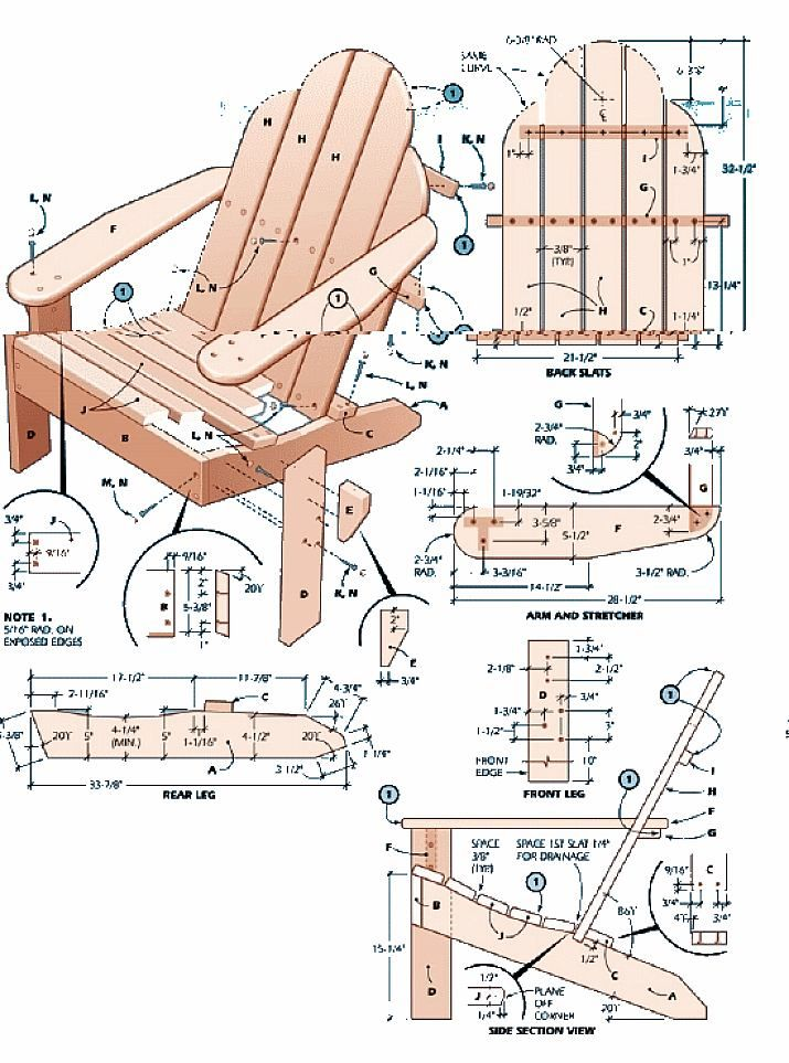 Building Adirondack furniture involves some special angle cuts, so a ...