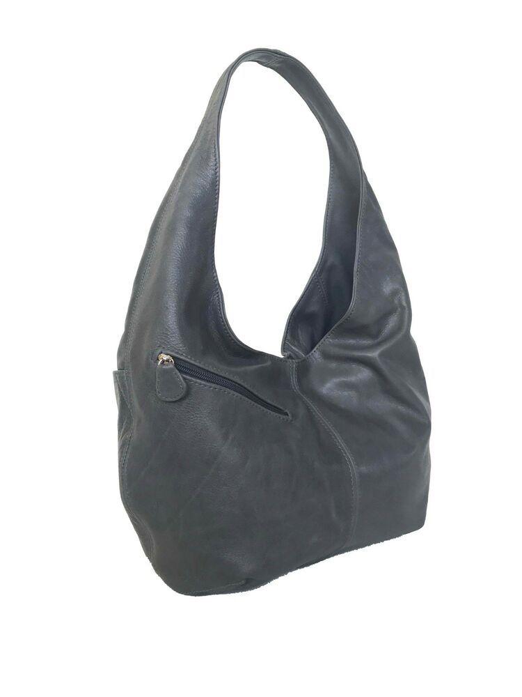 Women Purses Black Leather Hobo Bag Alicia Everyday Handbag Handmade Purses