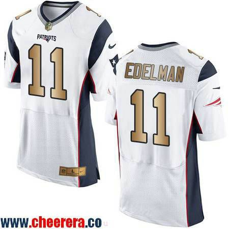 reputable site 92227 512aa italy nike new england patriots 11 julian edelman game white ...