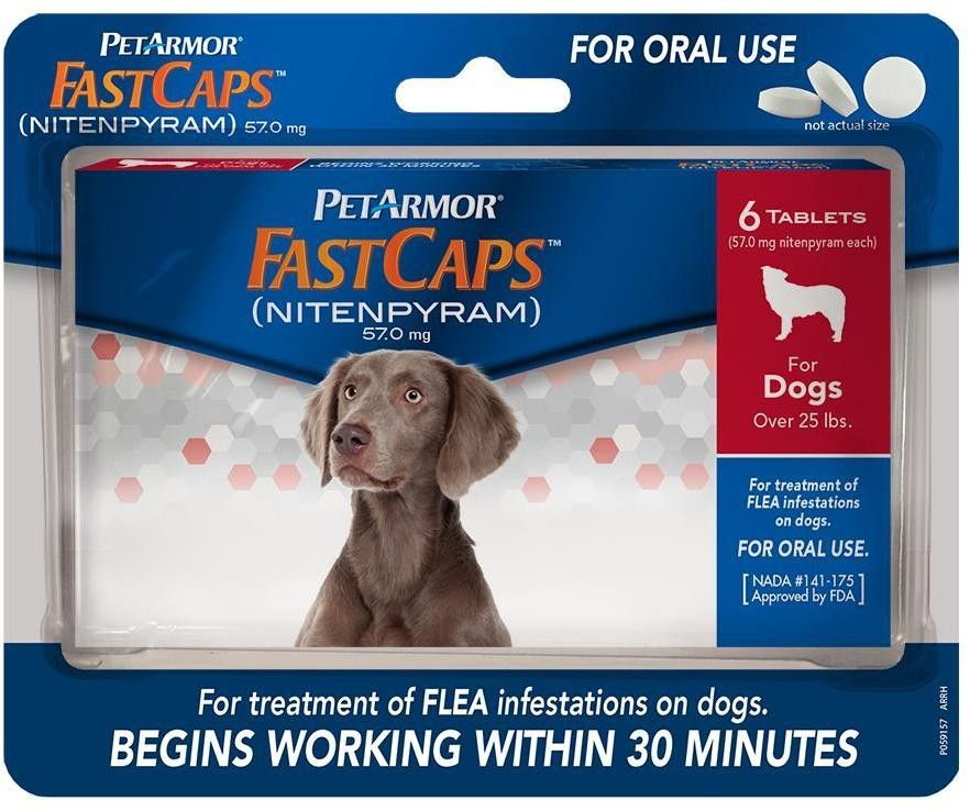 Petarmor(R) Fastcaps? Oral Flea Tablets For Dogs Over 25