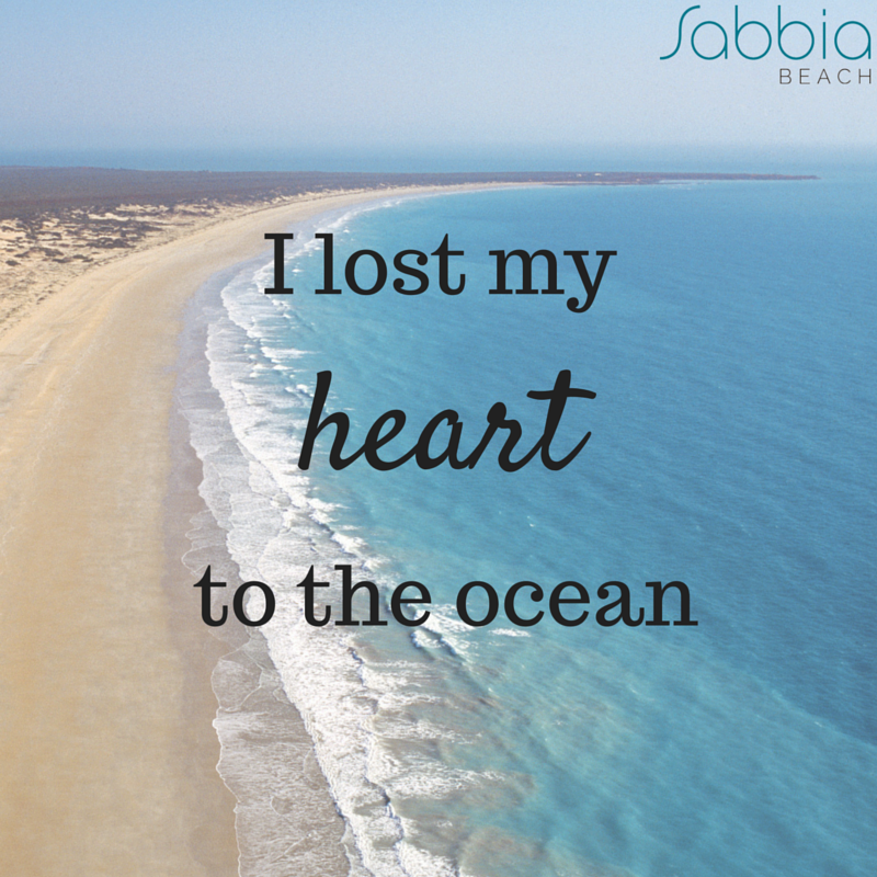I lost my heart to the ocean. www.sabbiabeachcondos.com