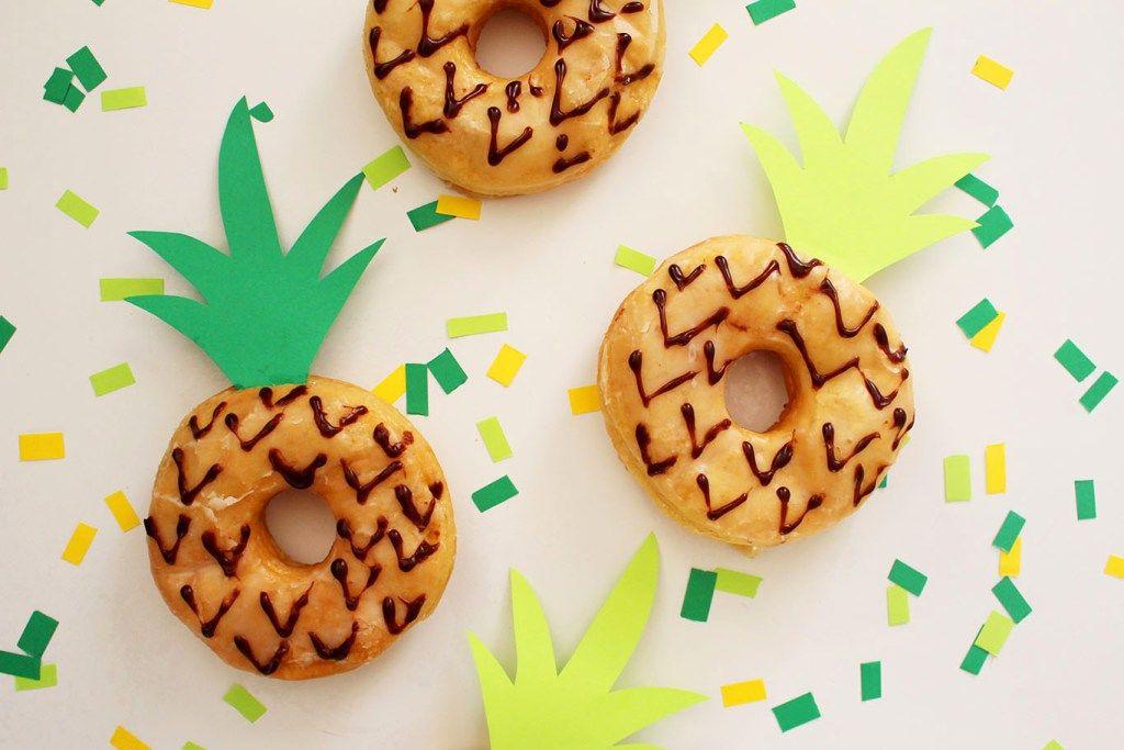 DIY Pineapple Donuts Diy pineapple, Pineapple parties