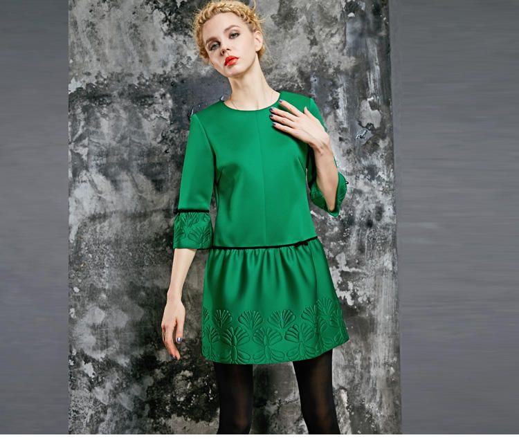 Embossed Dress ELF SACK | YESSTYLE United Kingdom